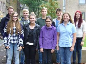 hinten: Justus, Moritz, Malte, Martin, Chiaravorne: Jule, Ilona, Ella, Franka