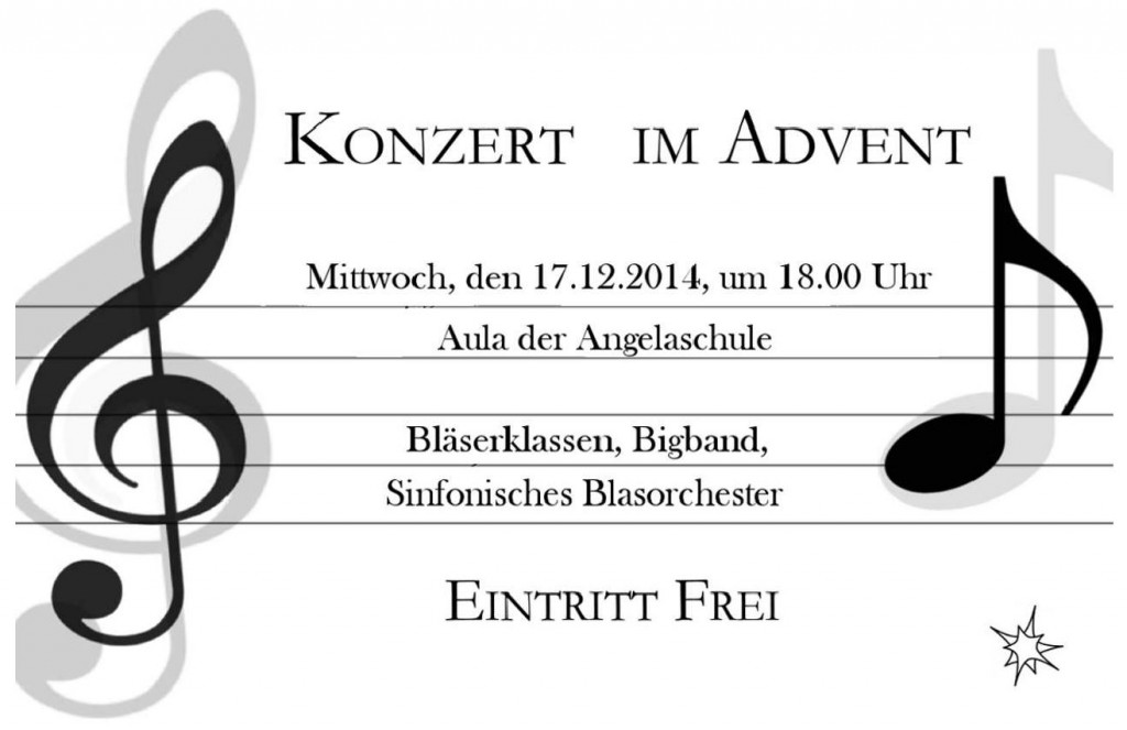 Plakat Konzert im Advent